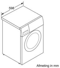 Maattekening BOSCH wasmachine WAB28160NL