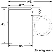 Maattekening BOSCH wasmachine WAV28KH7NL