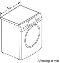 Maattekening BOSCH wasmachine WAYH2892NL