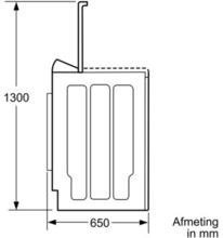 Maattekening BOSCH wasmachine bovenlader WOT24255NL