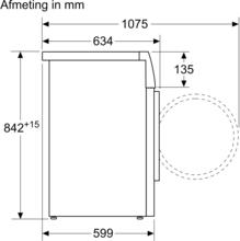 Maattekening BOSCH droger warmtepomp WTW85495NL