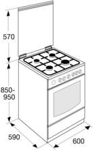 Maattekening ETNA fornuis matzwart EFG691BRCA