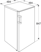 Maattekening ETNA koelkast tafelmodel EKK0842WIT
