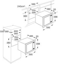 Maattekening ETNA magnetron inbouw SM225RVS