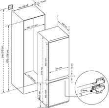 Maattekening INVENTUM koelkast inbouw IKV1786D