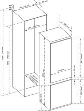 Maattekening INVENTUM koelkast inbouw IKV1788S