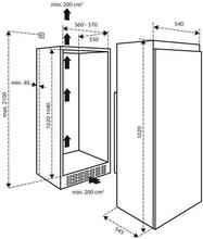 Maattekening INVENTUM koelkast inbouw K1020