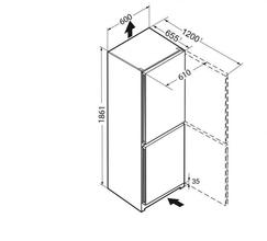Maattekening LIEBHERR koelkast rvs CNPef 4333-20