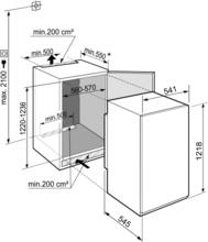 Maattekening LIEBHERR koelkast inbouw IRBSe4121-20