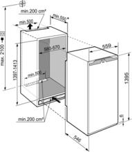 Maattekening LIEBHERR koelkast inbouw IRBd4571-20