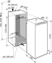 Maattekening LIEBHERR koelkast inbouw IRBdi5180-20