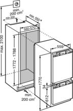Maattekening LIEBHERR koelkast inbouw IRCBf5121-20