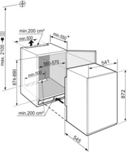 Maattekening LIEBHERR koelkast inbouw IRSf3900-20