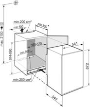 Maattekening LIEBHERR koelkast inbouw IRSf3901-20