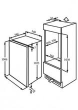 Maattekening M-SYSTEM koelkast inbouw MKR102
