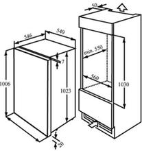 Maattekening M-SYSTEM koelkast inbouw MKRV102