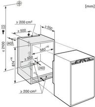 Maattekening MIELE koelkast inbouw K32222I