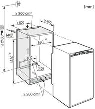 Maattekening MIELE koelkast inbouw K34122I