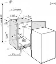 Maattekening MIELE koelkast inbouw K34142IF