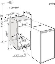 Maattekening MIELE koelkast inbouw K34242IF