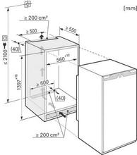 Maattekening MIELE koelkast inbouw K35272ID