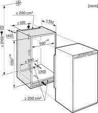 Maattekening MIELE koelkast inbouw K35422ID