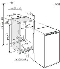 Maattekening MIELE koelkast inbouw K35442IF