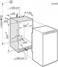 Maattekening MIELE koelkast inbouw K35472ID