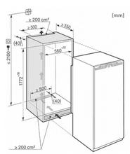 Maattekening MIELE koelkast inbouw K37272ID