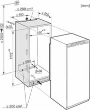 Maattekening MIELE koelkast inbouw K37282IDF