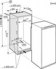 Maattekening MIELE koelkast inbouw K37422ID