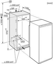 Maattekening MIELE koelkast inbouw K37682IDF