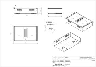 Maattekening OPERA inductie kookplaat met afzuiging inbouw 2900ML830C