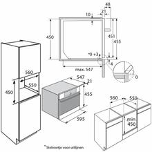 Maattekening PELGRIM oven met magnetron MAC514MAT