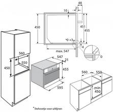 Maattekening PELGRIM oven met magnetron MAC614RVS