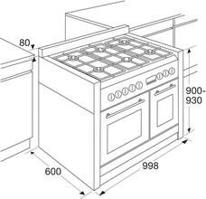 Maattekening PELGRIM fornuis antraciet NF1082ANTA