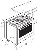 Maattekening PELGRIM fornuis antraciet NF940BANTA