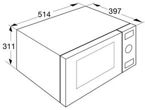 Maattekening PELGRIM combi-magnetron rvs PCM128RVS