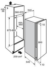 Maattekening PELGRIM koelkast inbouw PKD5088V