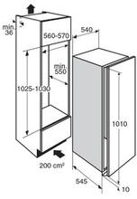 Maattekening PELGRIM koelkast inbouw PKD5102V
