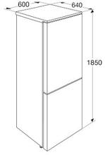 Maattekening PELGRIM koelkast rvs PKV5180RVS