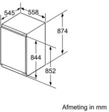 Afmetingen SIEMENS koelkast inbouw KI22LED30