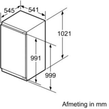 Afmetingen SIEMENS koelkast inbouw KI31RVF30