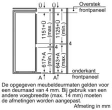 Afmetingen SIEMENS koelkast inbouw KI38VA50