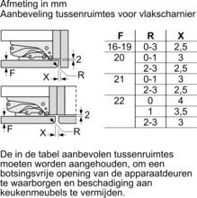 Afmetingen SIEMENS koelkast inbouw KI87SAFE0