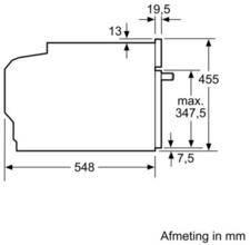 Afmetingen SIEMENS oven inbouw CB675GBS1