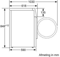 Afmetingen SIEMENS wasmachine WM14T490NL