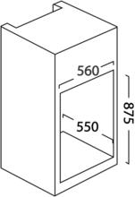 Maattekening SCHAUB LORENZ koelkast inbouw BIL88-8496