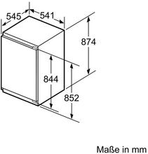 Maattekening SIEMENS koelkast inbouw KI21RVF30