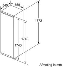 Maattekening SIEMENS koelkast inbouw KI82LAD30